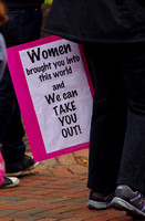 Women's rights protest at the Virginia Capitol