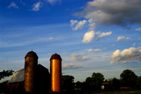 Silos at Sunset
